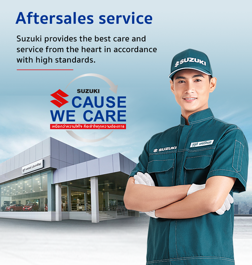 Aftersales services - Suzuki Cause We Care