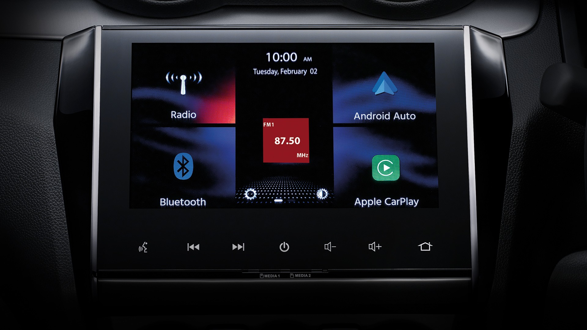 8-inch display touch screen               for the full function entertainment               comes with Apple CarPlay