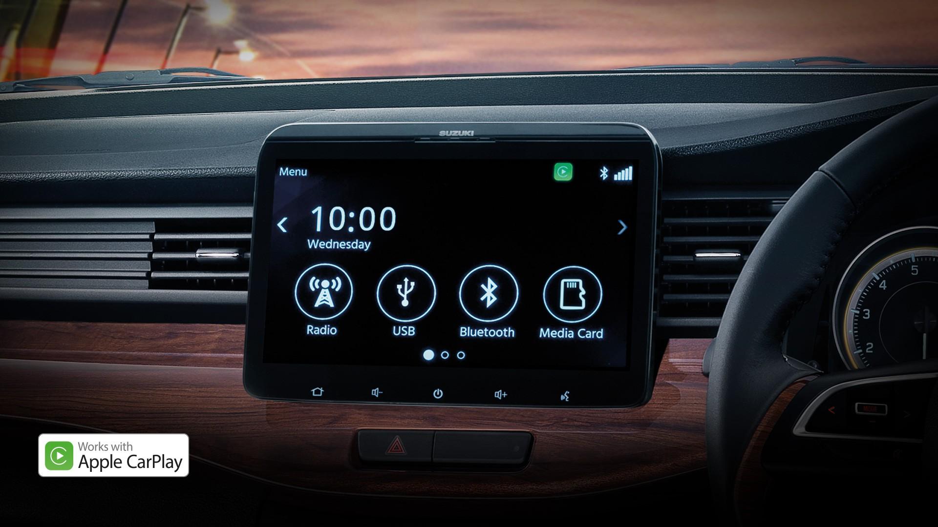 Suzuki ERTIGA หน้าจอสัมผัสขนาด 10 นิ้ว พร้อม Apple CarPlay